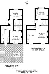 Large floorplan for Porchester Square, Bayswater, W2