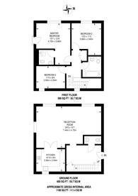 Large floorplan for Hillcrest, Ealing, W5
