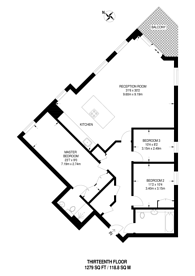 Large floorplan for Beadon Road, Hammersmith, W6