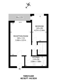 Large floorplan for Eastgate Gardens, Guildford, GU1