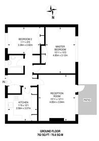 Large floorplan for Butts Crescent, Hanworth, TW13