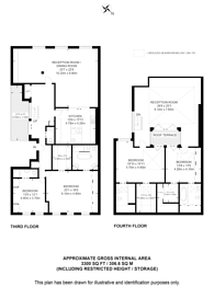 Large floorplan for Princes Gate, South Kensington, SW7
