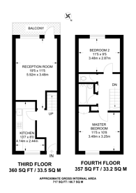 Large floorplan for Glengarnock Avenue, Isle Of Dogs, E14