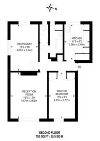 Large floorplan for Hamilton Road, West Norwood, SE27