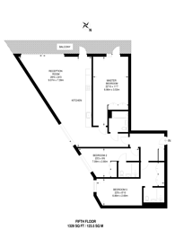 Large floorplan for Summerston House, Docklands, E16