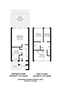 Large floorplan for White Hart Lane, Wood Green, N22