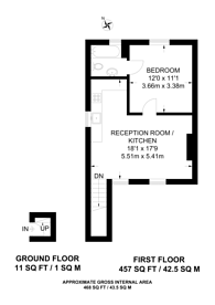 Large floorplan for Ditton Hill Road, Long Ditton, KT6