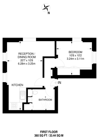 Large floorplan for Nevern Square, Earls Court, SW5