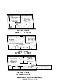 Large floorplan for New Park Road, Brixton Hill, SW2