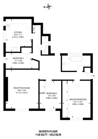 Large floorplan for North End House, Fitzjames Avenue, West Kensington, W14