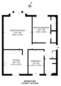 Large floorplan for Tower Road, Strawberry Hill, TW1