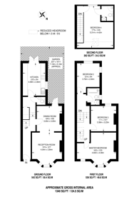 Large floorplan for Eccles Road, Clapham Junction, SW11
