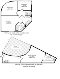Large floorplan for Grove Lane, Camberwell, SE5