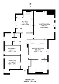 Large floorplan for Victoria Road, Kensington, W8