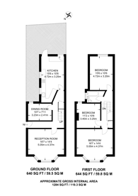 Large floorplan for William Street, Leyton, E10