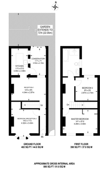 Large floorplan for Gloucester Road, Walthamstow, E17