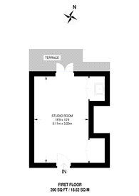 Large floorplan for St Charles Square, North Kensington, W10
