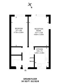 Large floorplan for Jarrow Way, Homerton, E9