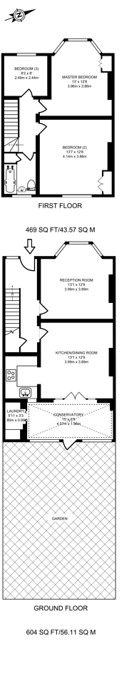 Large floorplan for Marlborough Lane, Charlton, SE7