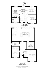 Large floorplan for Garthland Drive, Arkley, EN5