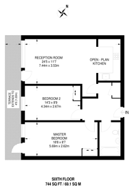 Large floorplan for London Road, Norbury, SW16