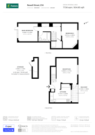 Large floorplan for Newell Street, Canary Wharf, E14