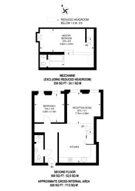 Large floorplan for Scholars Place, Stoke Newington, N16