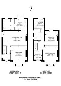 Large floorplan for Chestnut Grove, North Wembley, HA0
