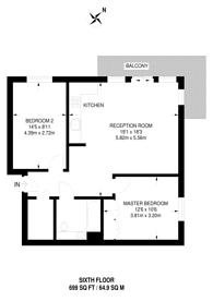 Large floorplan for Pegler Square, Kidbrooke, SE3