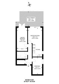 Large floorplan for King's Road, Wimbledon, SW19