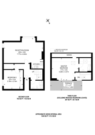 Large floorplan for King's Road, Wimbledon, SW19