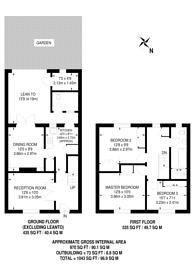 Large floorplan for Mallet Drive, Northolt, UB5