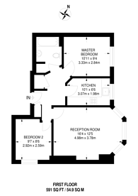 Large floorplan for Redbourne Avenue, Finchley Central, N3