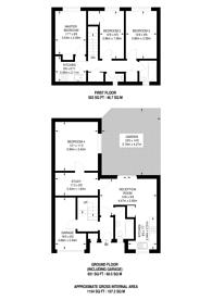 Large floorplan for Savill Gardens, Raynes Park, SW20