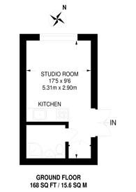 Large floorplan for Gunnersbury Lane, Gunnersbury, W3