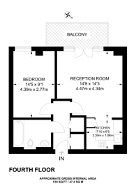 Large floorplan for Ilford Hill, Ilford, IG1
