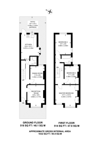 Large floorplan for Exmoor Street, North Kensington, W10