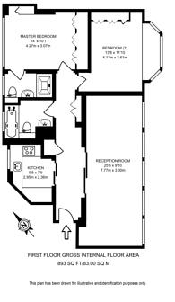 Large floorplan for Wigmore Street, Marylebone, W1U