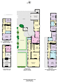 Large floorplan for Hampton Court Road, Hampton Court, KT8