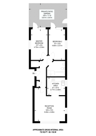Large floorplan for Mapesbury Road (65% Share), Mapesbury Estate, NW2