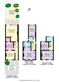 Large floorplan for St Johns Wood Terrace, St John's Wood, NW8