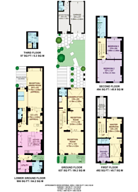 Large floorplan for Eaton Terrace, Belgravia, SW1W