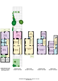Large floorplan for Drayton Gardens, Chelsea, SW10