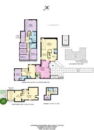 Large floorplan for Back Lane, Hampstead, NW3