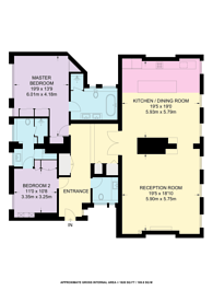 Large floorplan for Embankment Gardens, Chelsea, SW3