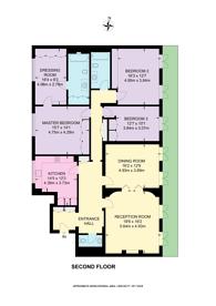 Large floorplan for Bryanston Square, Marylebone, W1H