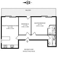 Large floorplan for Greenford Road, Ealing, UB6