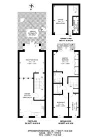 Large floorplan for Edwards Cottages, Canonbury, N1
