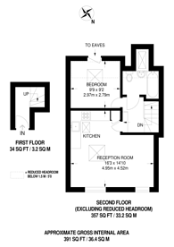 Large floorplan for Park Avenue, Tooting, CR4