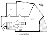 Large floorplan for Russell Place, Rotherhithe, SE16